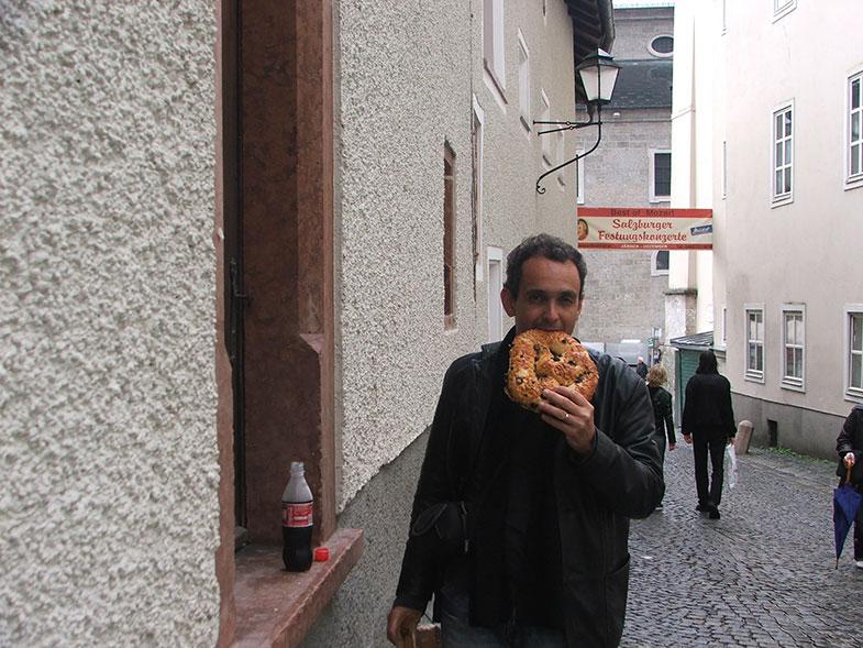 Pretzel em Salzburg