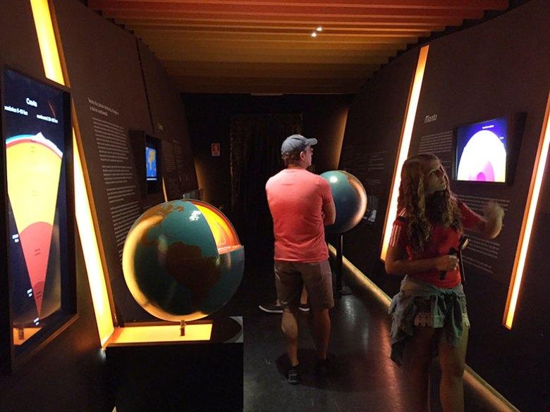 Seção Universo do Museu Catavento em São Paulo