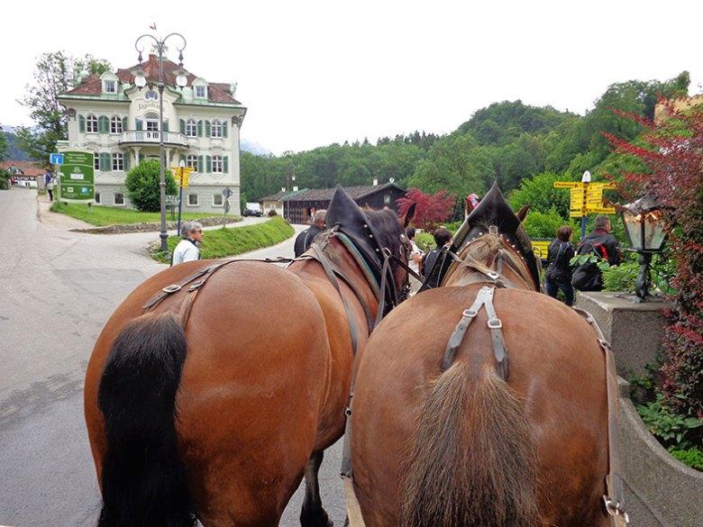 Charrete para o Castelo de Neuschwanstein