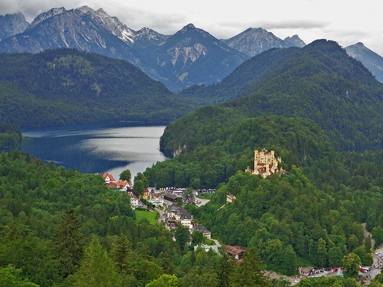 Vista do Castelo de Hohenschwangau