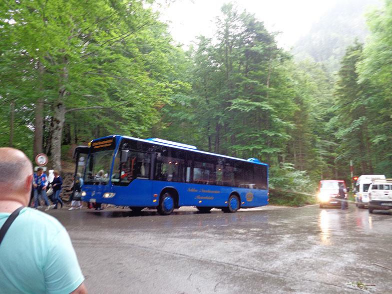 Ônibus que leva ao Castelo de Neuschwanstein