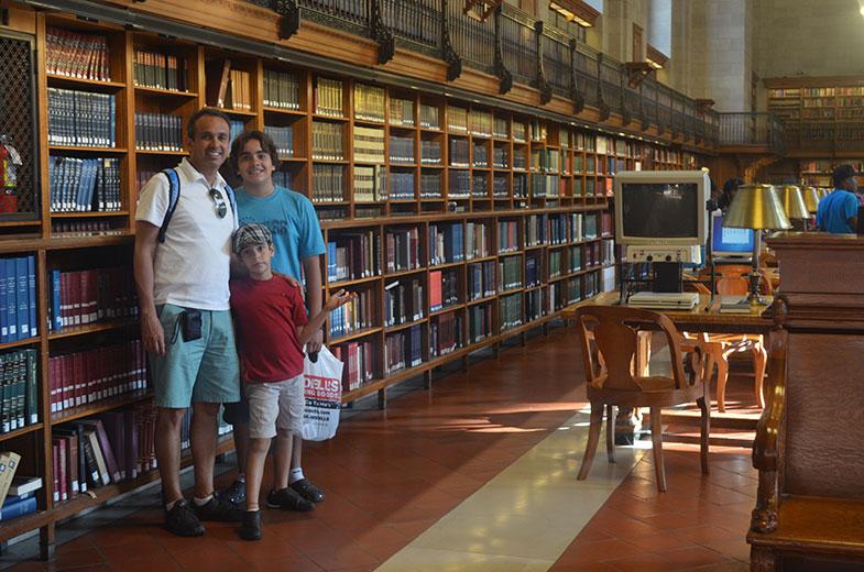 Uma das salas da Biblioteca Pública de New York