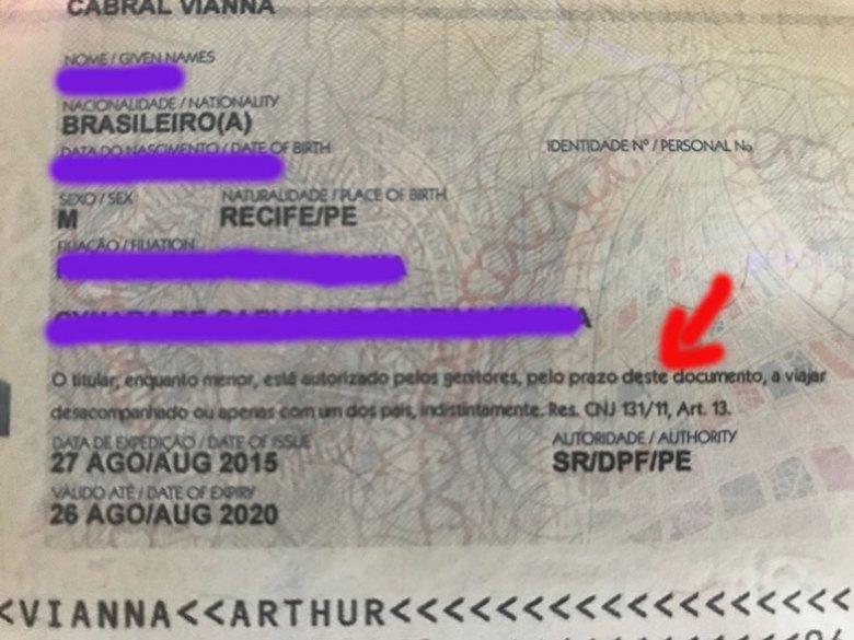 Documentos para viagens de avião