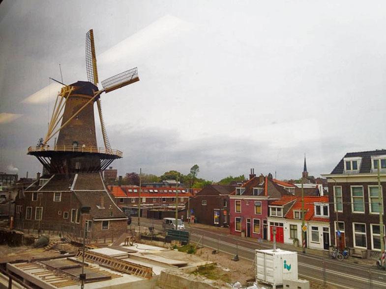 Moinhos de vento Kinderdijk em Roterdã