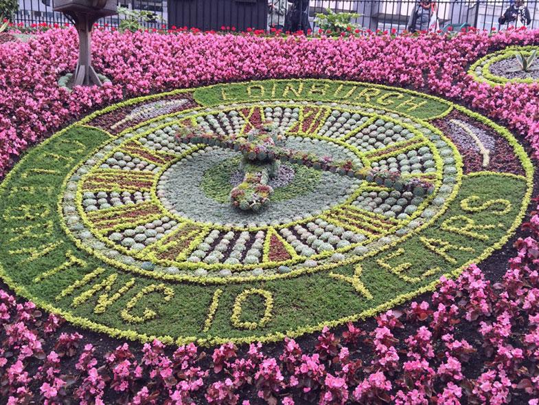 Relógio Floral em Edimburgo