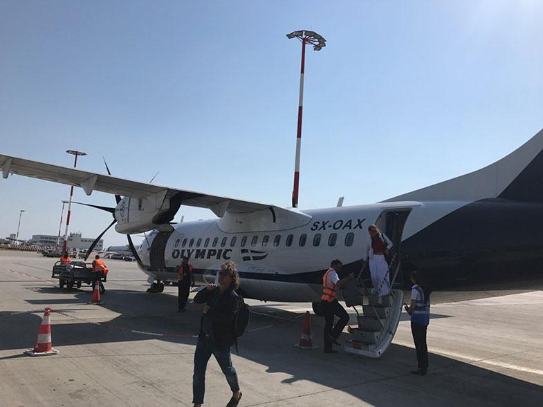 Avião da Olympic Air em Atenas