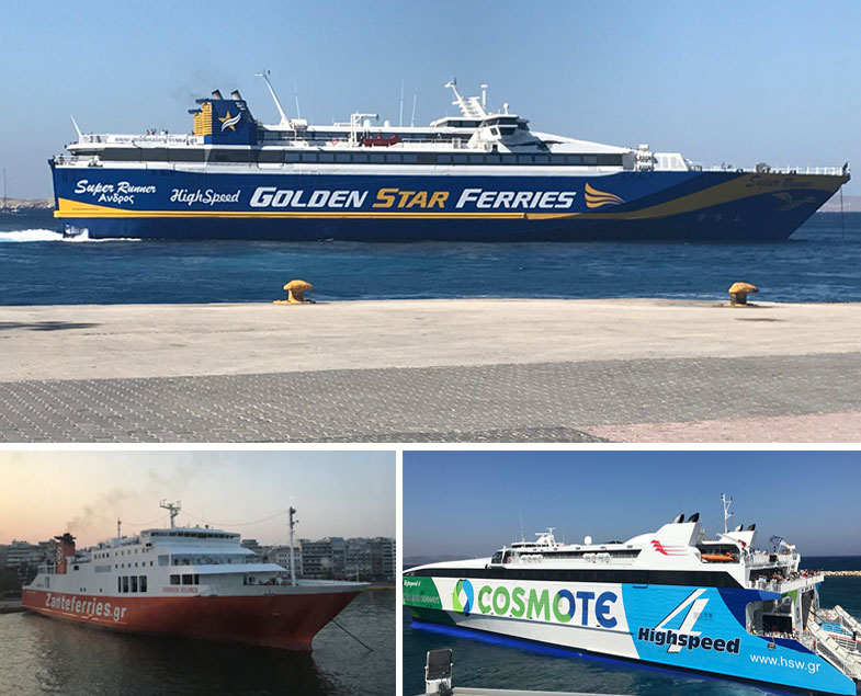 Tipos de ferry na Grécia