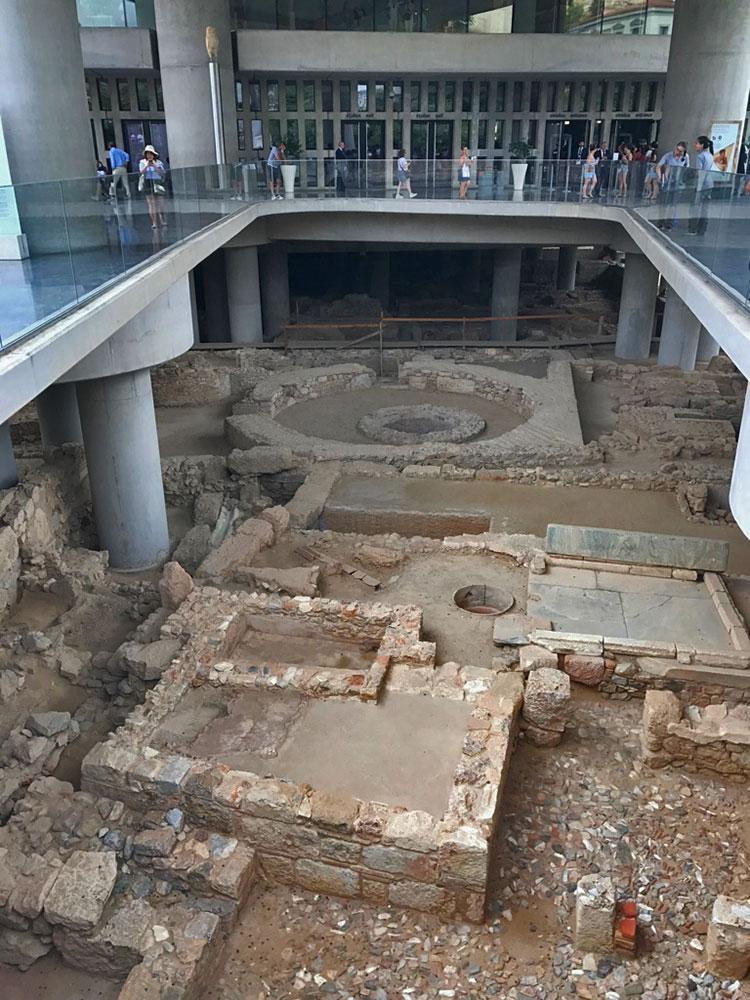 Entrada do Museu da Acrópole de Atenas