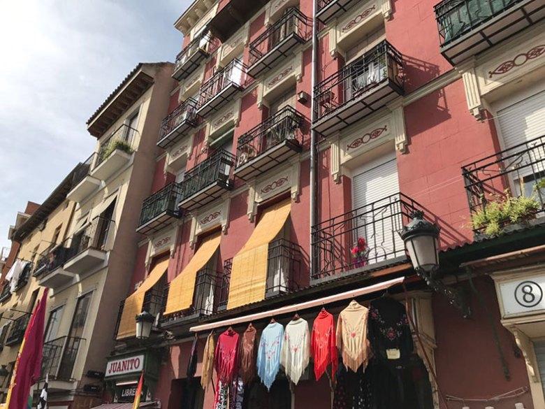 Ruas do Rastro em Madrid