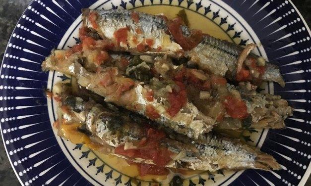 Conserva de sardinha feita em casa