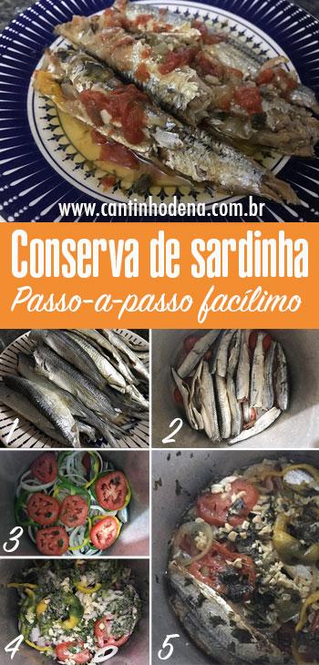 Passo-a-passo para fazer conserva de sardinha
