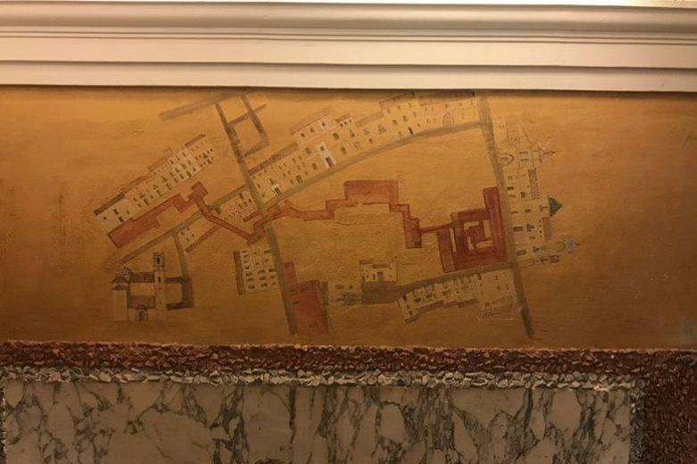 Mapa interno do hotel em Sevilha