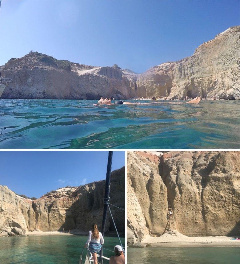 Praia de Tsigrado em Milos