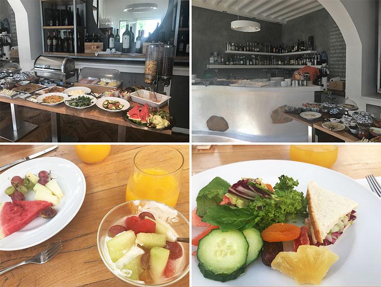 Café da manhã do hotel em Mykonos