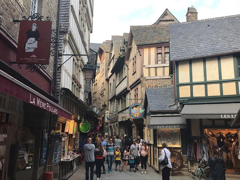 Grande Rue em Mont Saint Michel