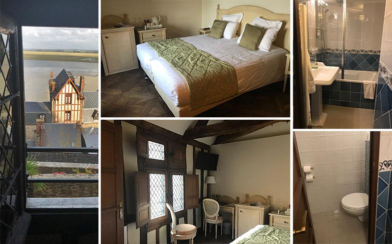 Hotel dentro da muralhas em Mont Saint Michel