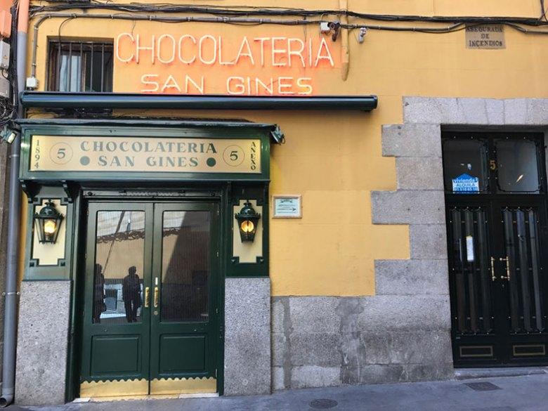 Famosos churros em Madrid