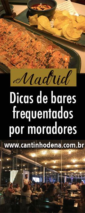 Top 3 bares em Madrid