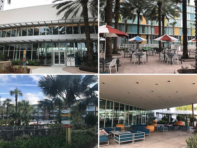 Área de lazer do hotel dentro da Universal