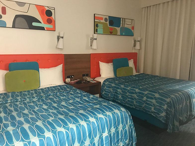Quarto do hotel dentro da Universal