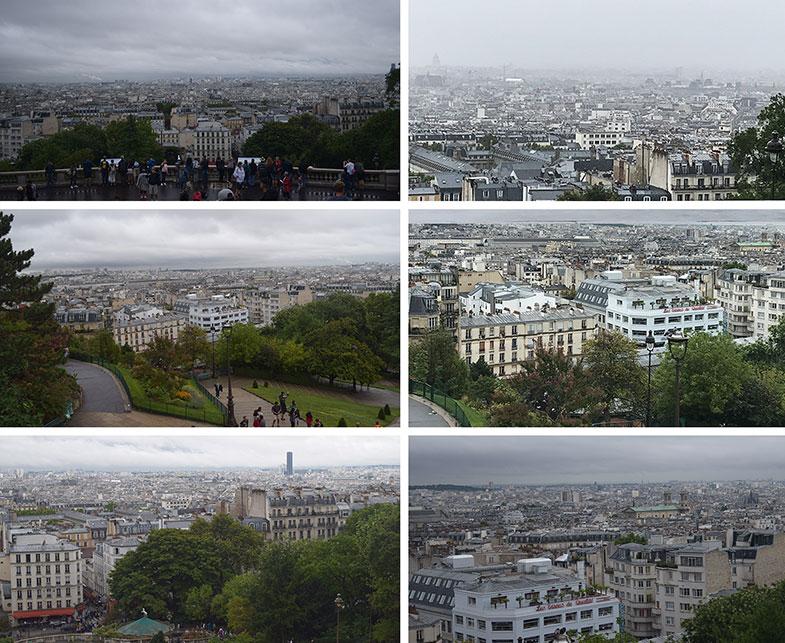 Paris vista do alto da Sacré Couer