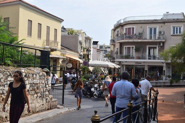 Ruas de Plaza em Atenas
