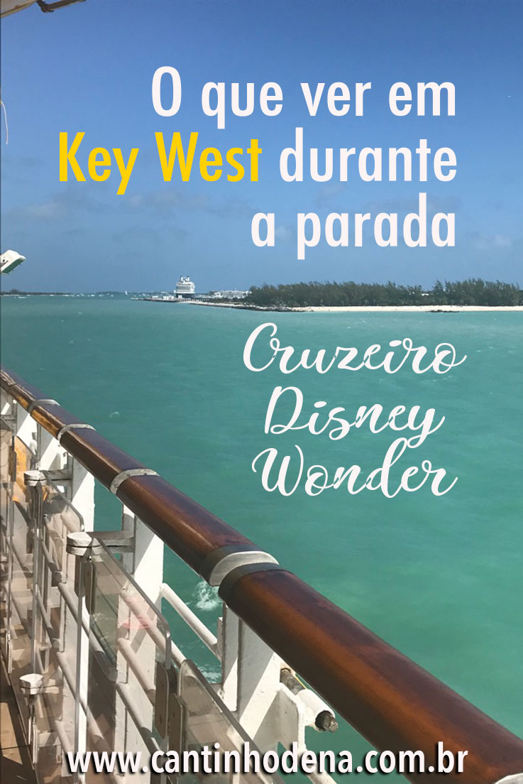 Parada do cruzeiro Disney Wonder em Key West