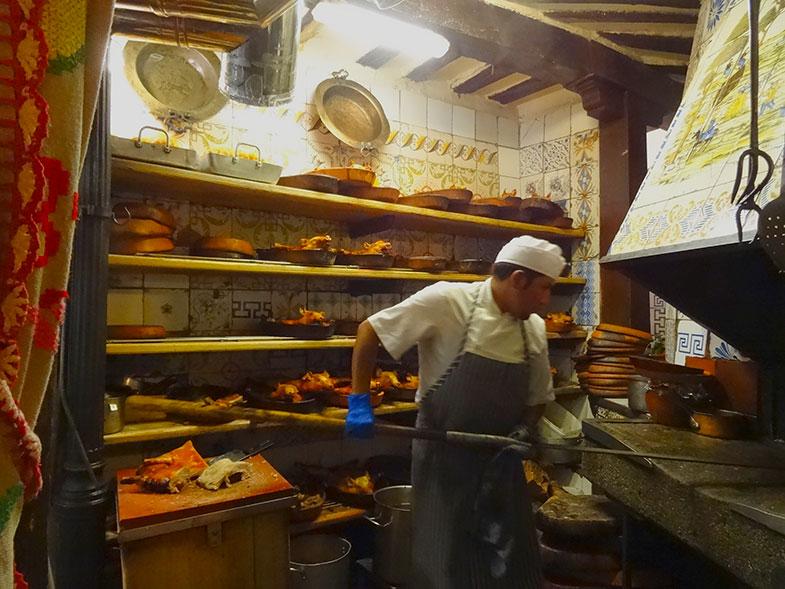 Forno do restaurante El Botin em Madrid