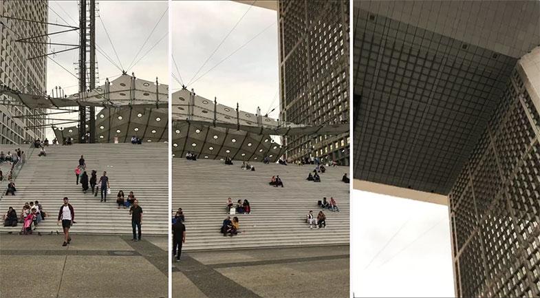 Detalhes do La Grand Arche em La Défense