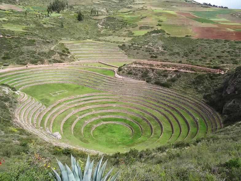 Moray numa viagem para o Peru