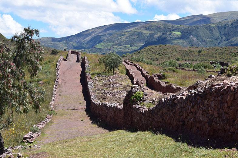Pikillacta no Vale Sagrado no Peru
