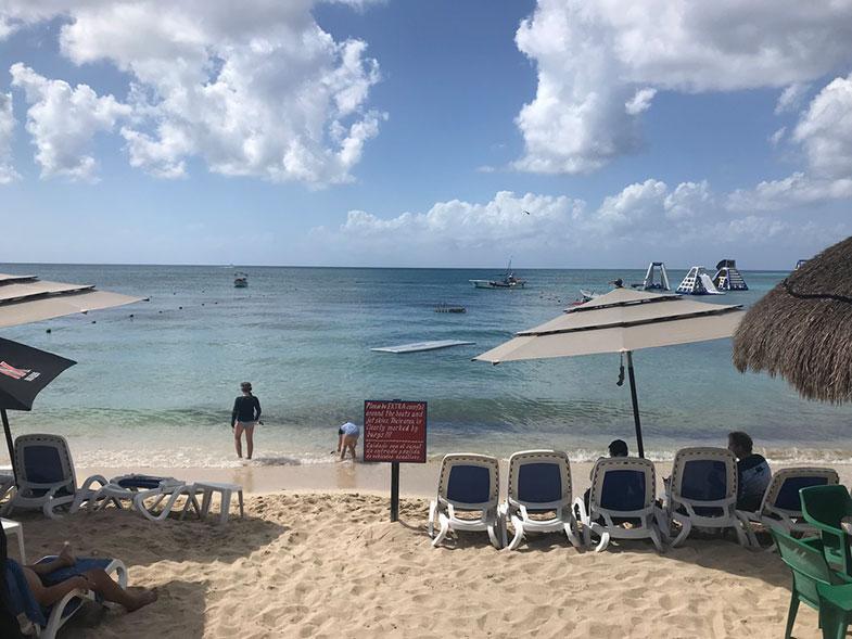 Praia em Cozumel