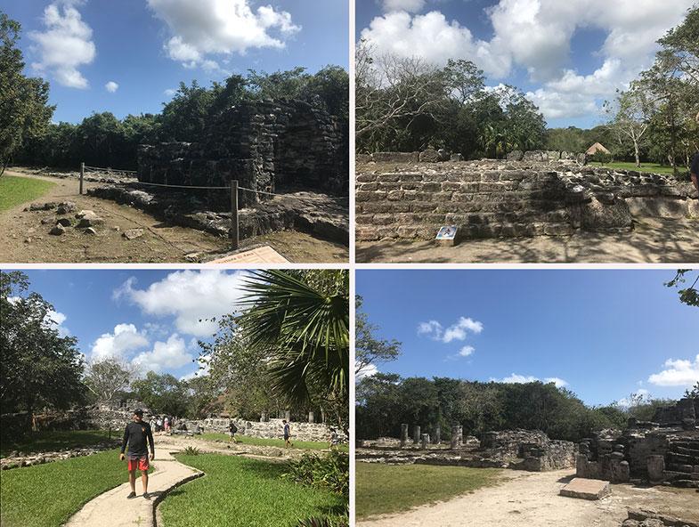 As ruínas de San Gervásio em Cozumel