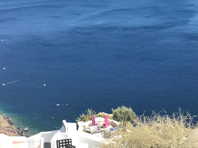 Vista do mar em Santorini