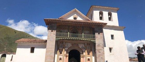 Fachada da Capela Sistina das Américas no Peru