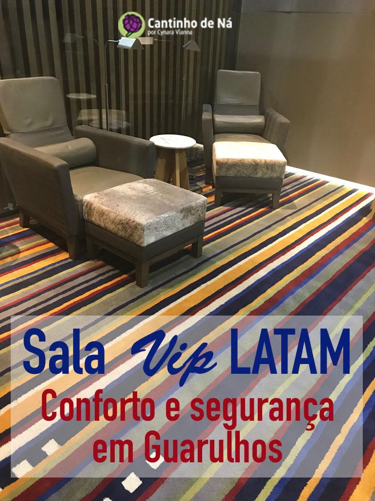 Sala VIP da Latam em São Paulo