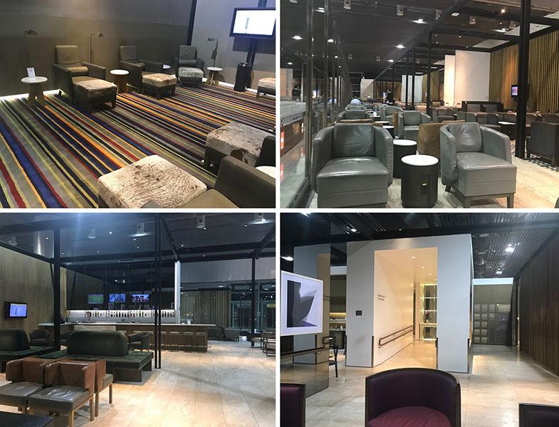 Estrutura da sala VIP da Latam em Guarulhos