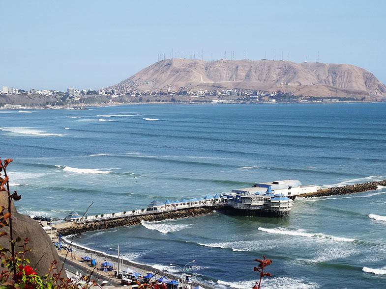 Vista do mar - conexão em Lima