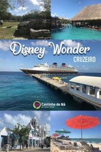Post indice com tudo sobre o cruzeiro Disney Wonder de 7 noites