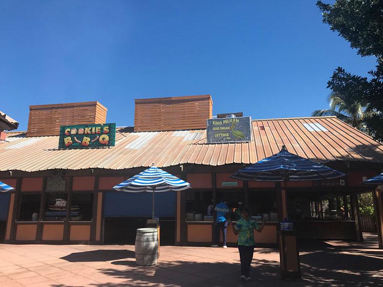 Restaurante na ilha particular da Disney