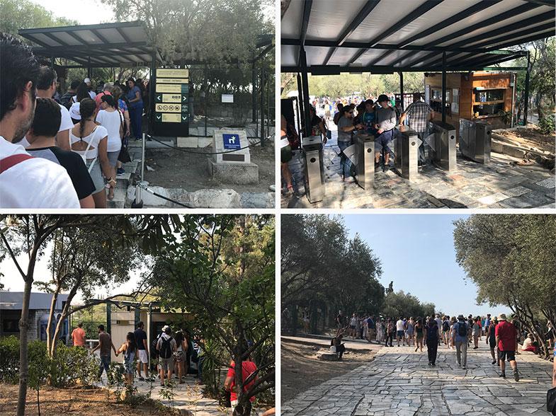 Visitando Acrópole em Atenas