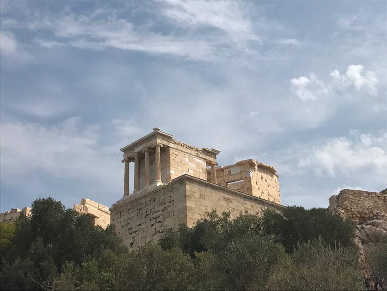 Templo de Ateba Kin na Acrópole de Atenas