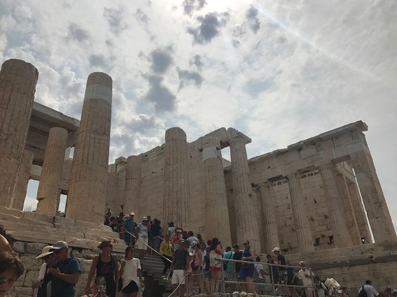 Propileus na Acrópole em Atenas