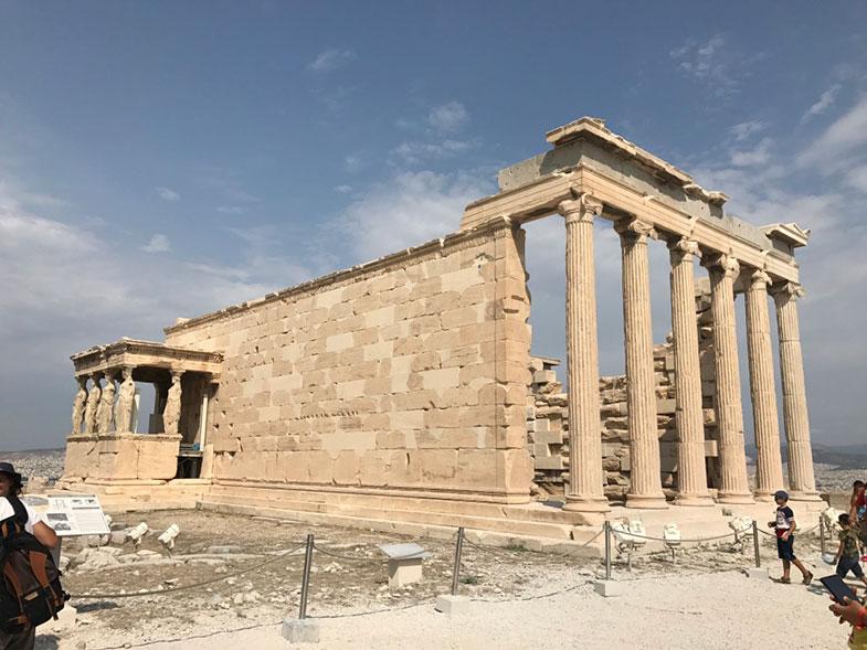 Erécteion na Acrópole de Atenas