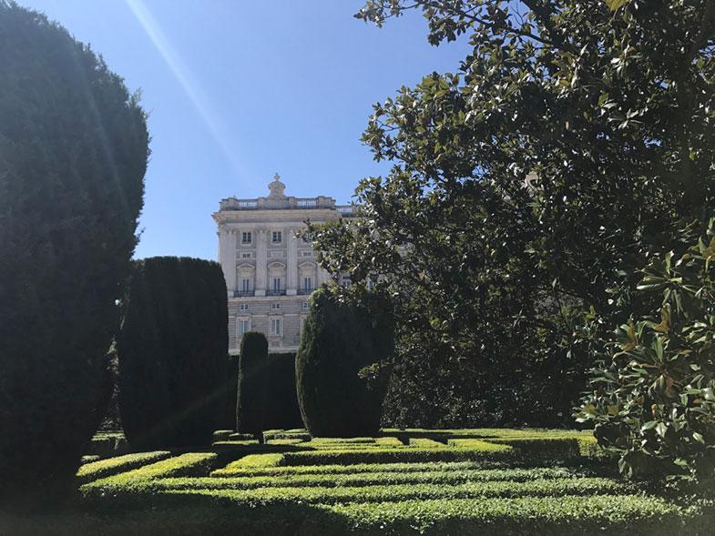 Palácio Real de Madrid e o Jardim de Sabatini