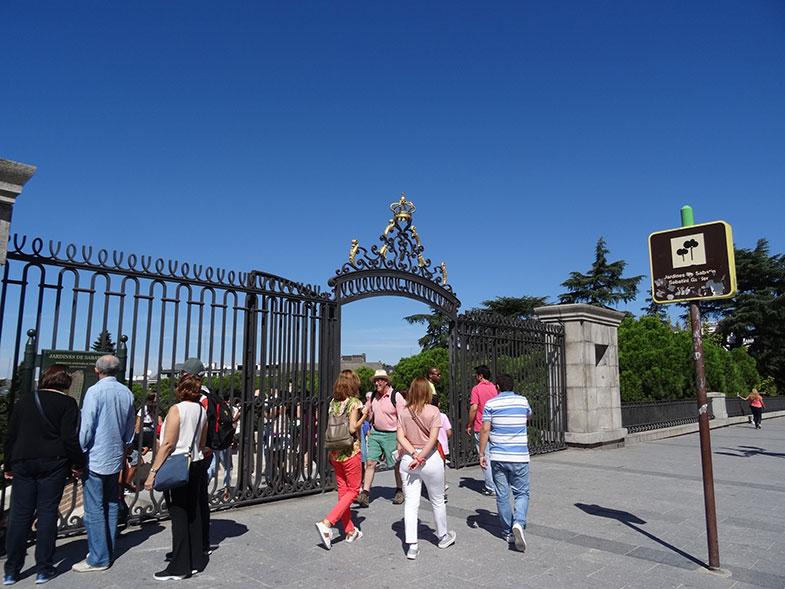 Entrada do Jardim de Sabatini