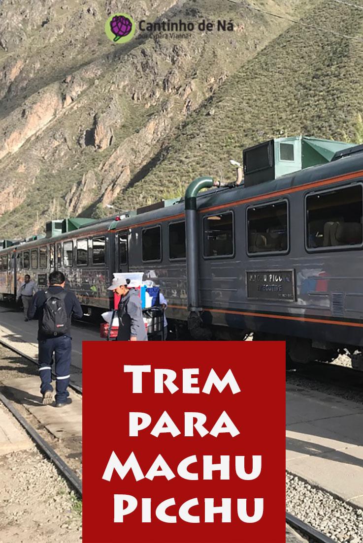 Viajando de trem para Machu Picchu