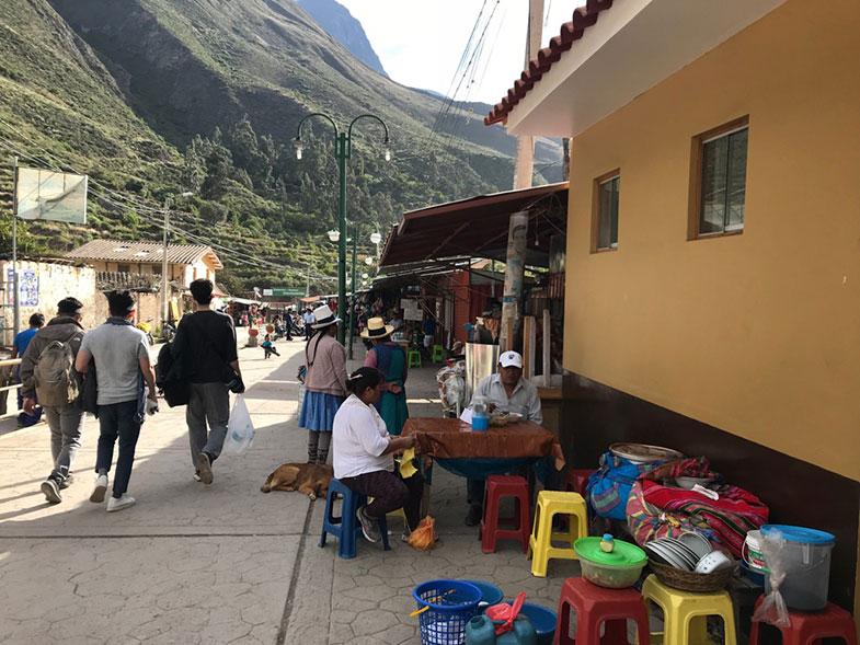 Estação de trem em Ollantaytambo