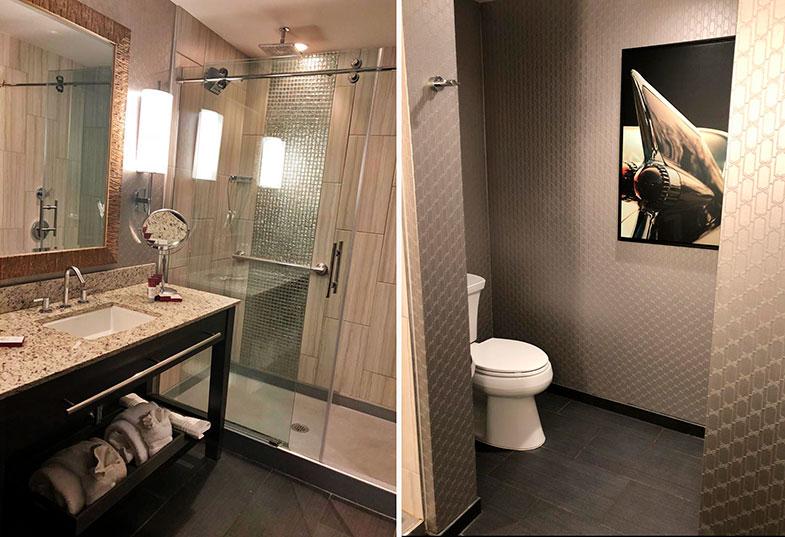 Banheiro do hotel em Memphis