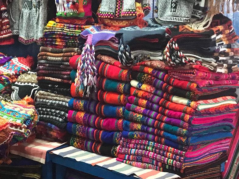 Cusco mercado de artesanato